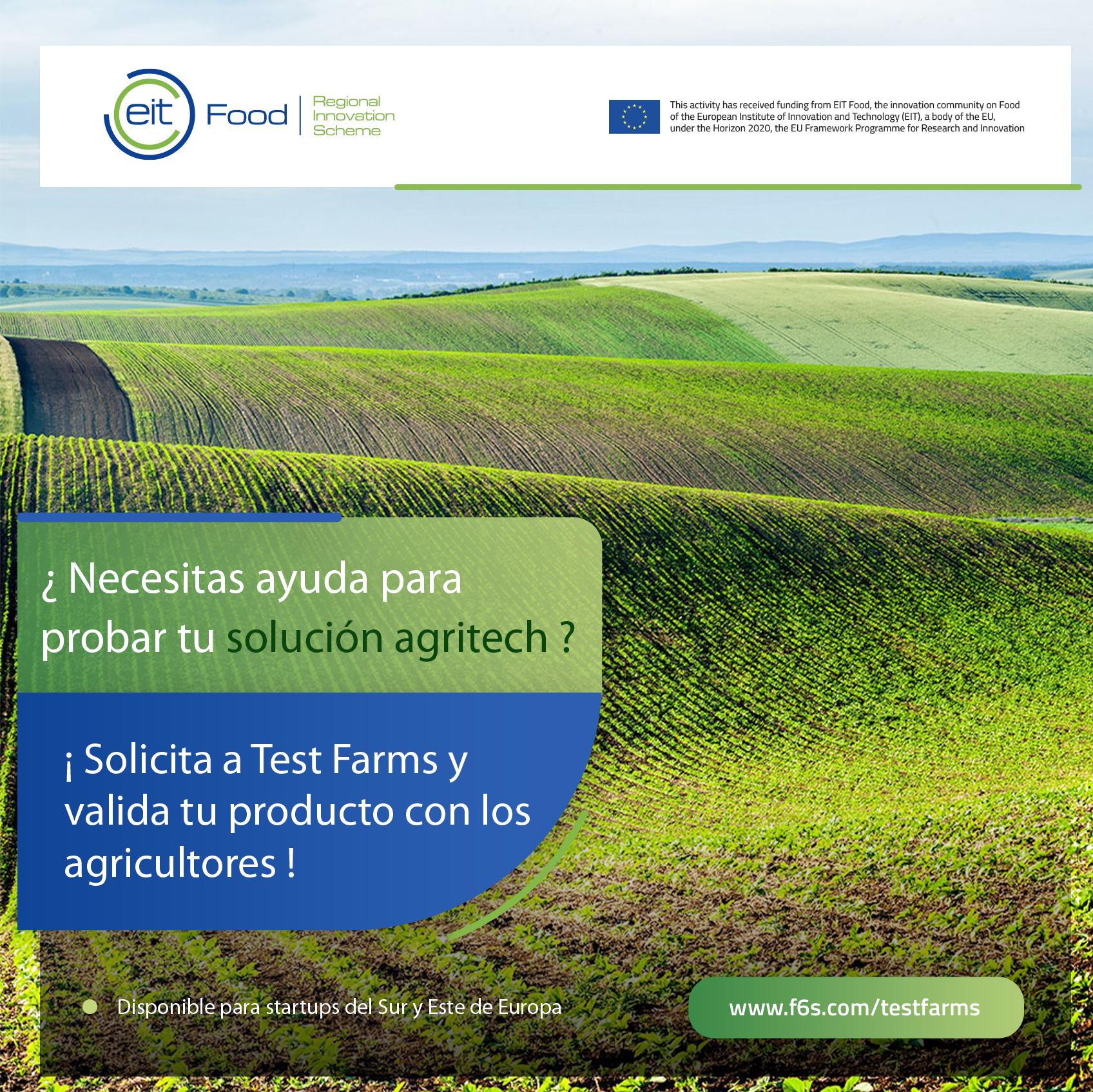 Test Farms: oportunidad para probar productos o servicios innovadores con los agricultores