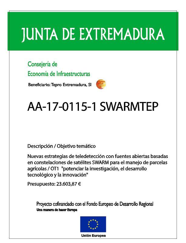 Cartel proyecto AA-17-0115-1-SWARMTEP